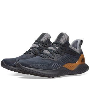 Adidas Alphabounce Beyond Gray Carbon Sneakers - 4Y, 5.5